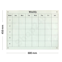 Weekly Planner 玻璃白扳(60Wx45Hcm)